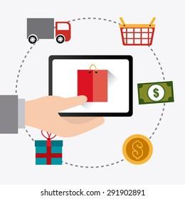 Shopping digital design, vector illustration eps 10