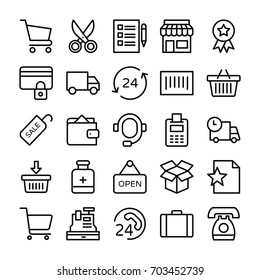 Shopping and E Commerce Vector  Icons 8