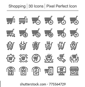 shopping and e-commerce line icon,editable stroke,pixel perfect icon