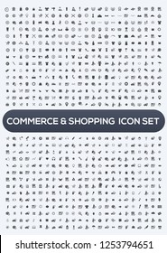 Shopping and e-commerce vector icon set