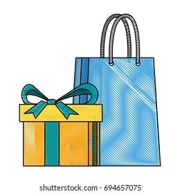shopping gift box paper bag market commerce