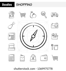 Shopping Hand Drawn Icon for Web, Print and Mobile UX/UI Kit. Such as: Building, Mall, Shopping, Shopping Mall, Shopping, Cart, Commerce, Pictogram Pack. - Vector