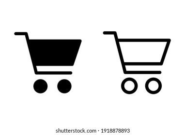 Shopping icon set. Shopping cart icon. Trolley icon vector