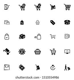 Shopping Icon Set. Vector illustration. Simplines series.
