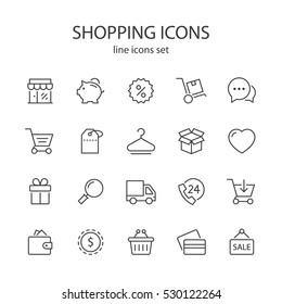 Shopping icons.