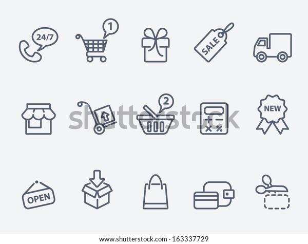 Shopping-Symbole