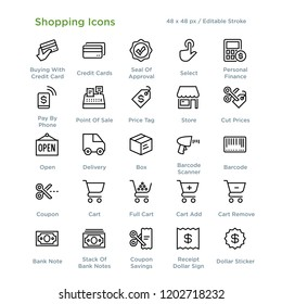 Shopping Icons - Outline