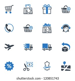 Shopping Icons Set 1 - Blue Series