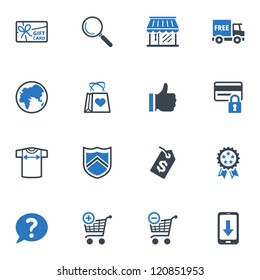 Shopping Icons Set 2 - Blue Series