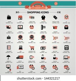 Shopping icons,vector