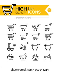 Shopping Line Icons Series
