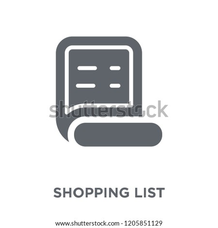 shopping list icon shopping list design concept from ecommerce collection simple element vector illustration