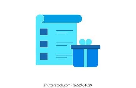 Shopping list icon vector illustration.