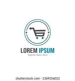 Shopping logo template design. Shopping logo with modern frame isolated on white background