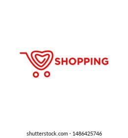 Shopping Logo Template Stock Vector