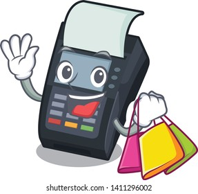 Shopping machine EDC isolated in the mascot