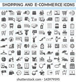 shopping, marketing and e-commerce icon set, 100 icons