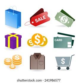 Shopping modern symbol