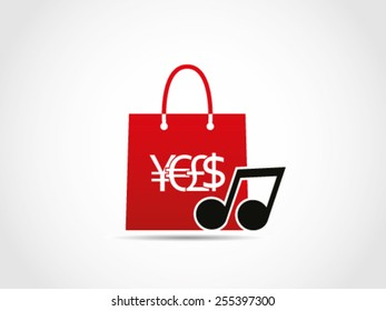 Shopping Music Note