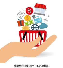 Shopping online design , vector illustration