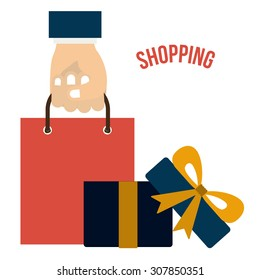 Shopping online digital design, vector illustration eps 10