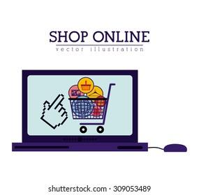 Shopping Online digital design, vector illustration eps 10
