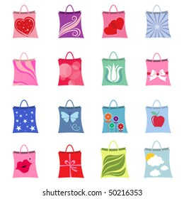 shopping packages vector
