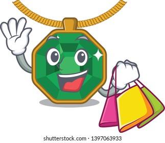Shopping peridot jewelry in a cartoon box