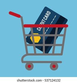 shopping related icons image vector illustration design