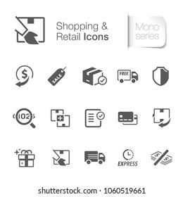 Shopping & retail icons