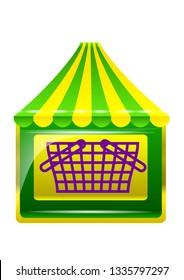 shopping store icon isolated on white background