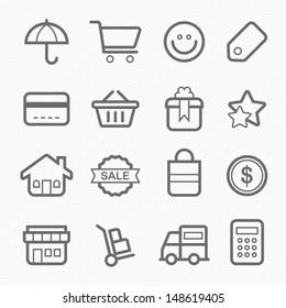 shopping symbol line icon vector illustration on white background