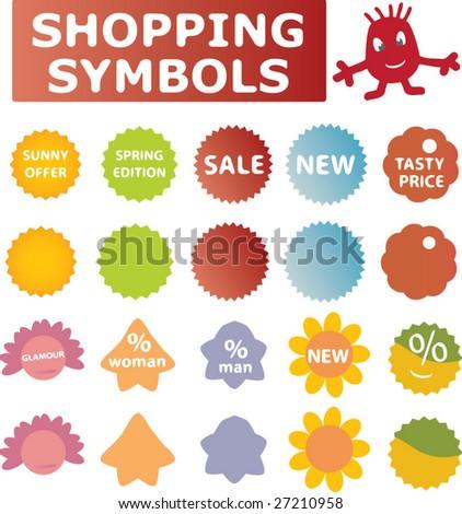 Stock vektory na téma Shopping Symbols Spring Summer Vector Set (bez ... 03104e5fd3