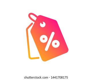 Shopping tags icon. Special offer sign. Discount coupons symbol. Classic flat style. Gradient discount tags icon. Vector