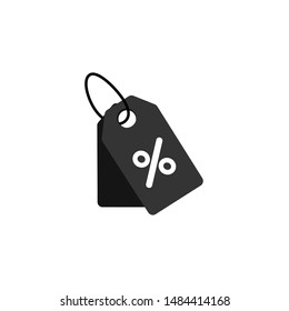 Shopping tags simple icon. Classic style. Special offer sign. Discount coupons symbol. Quality design elements. eps10