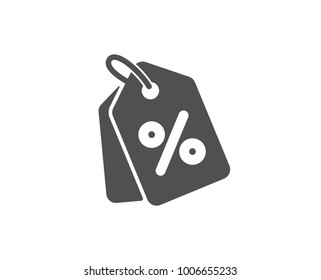 Shopping tags simple icon. Special offer sign. Discount coupons symbol. Quality design elements. Classic style. Vector