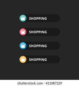 Shopping text button with icon