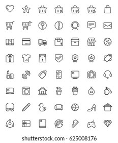 shopping vector  icon set with out line style