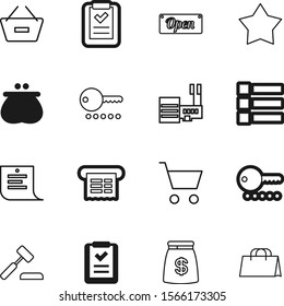 shopping vector icon set such as: bill, 10, document, hammer, investment, legal, authority, message, justice, effect, work, new, architecture, guilt, construction, options, save, checklist, pink