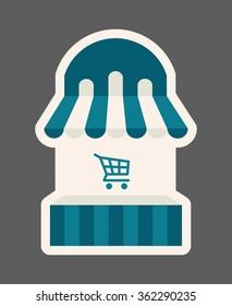 Shopping website icon, vector icon, basket icon
