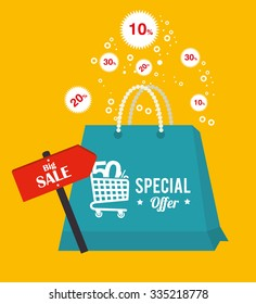 shopping,marketing and sales graphic design, vector illustration