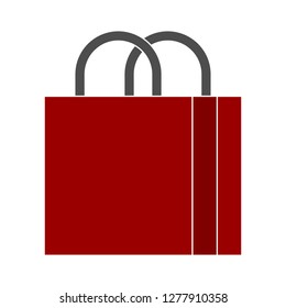 shopping-store bag icon - shopping-store bag isolated ,  shopping package illustration- Vector shopping bag