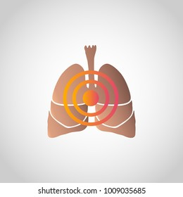 Short of Breath icon design, infographic health. Vector illustration.