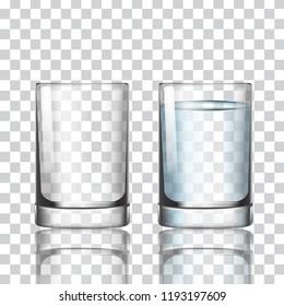 Short glass on a transparent background vector illustration