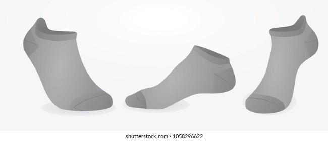 Short grey socks. vector illustration