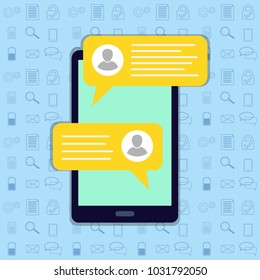 Short message service bubbles with place for text chat text boxes.Chat, sms, tweet, instant messaging, mobile messenger concepts for web sites, web banners, printed materials.