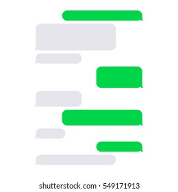 Short Message Service SMS Blank Bubbles Set. Vector