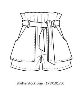short pant skirt vectorial illustration