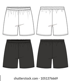 Short pants fashion vector illustration flat sketches template