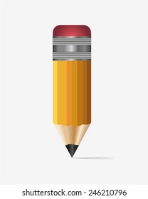 Short pencil. Can be used as clip art , icon or illustration.